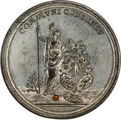 1783 Peace of Versailles Medal obverse