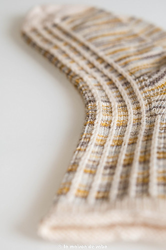 Closeup of Solid Stitch Lines sock