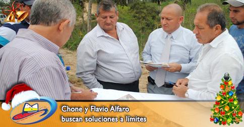 Chone y Flavio Alfaro buscan soluciones a límites