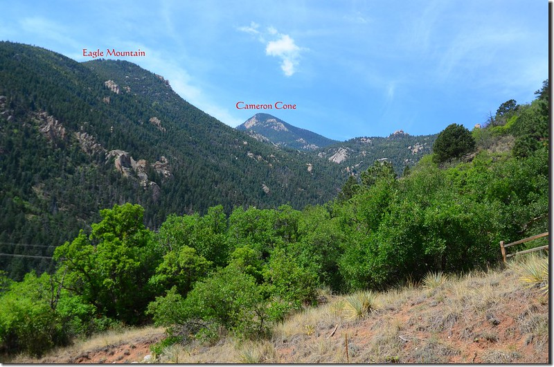 View to the southwest from the base of The Incline 1-1