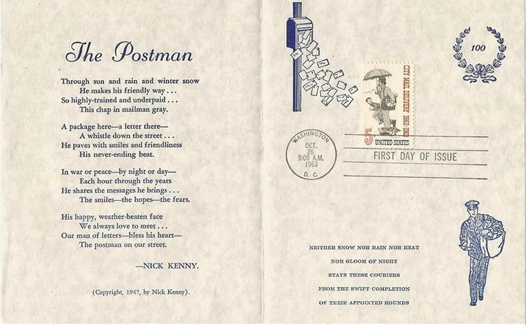 United States - Scott #1238 (1963) - folder with FDOI handstamped postmark and