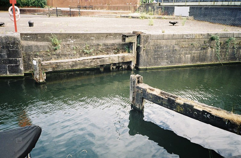 The former lock from the Avon into Bathurst Basin