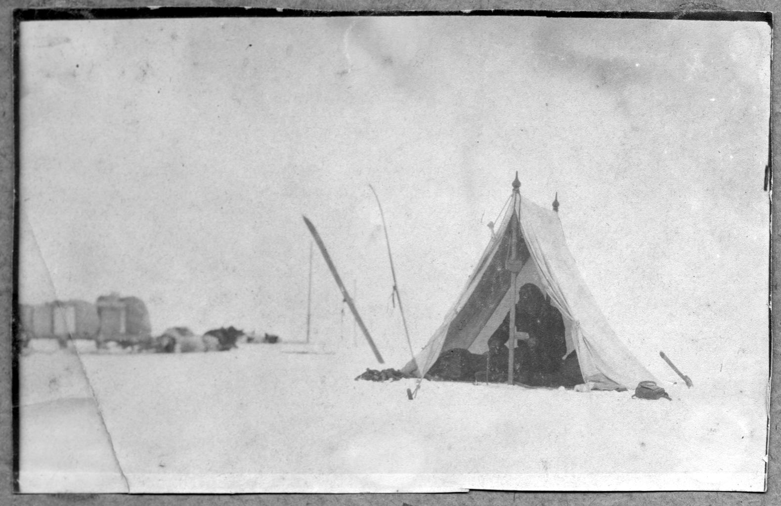 Палатка Павлова М. А. и матроса Линника на ледяном покрове