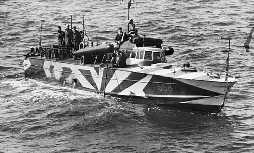 Italian torpedo boat MAS 558 in the Mediterranean 1942.