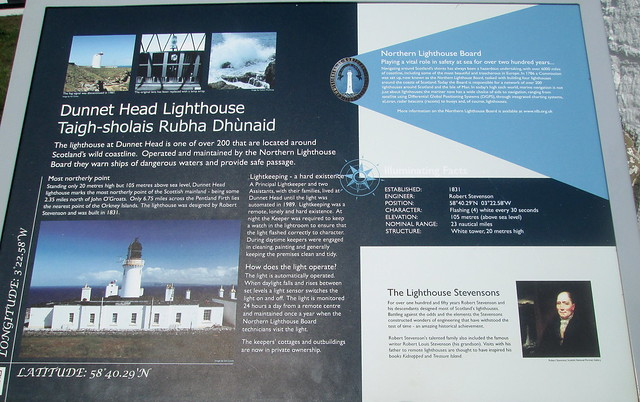 Lighthouse Information Board, Dunnet Head