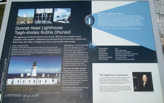 Lighthouse Information Board, Dunnet Head