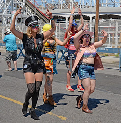 Dancing Women Coney Island Mermaid Parade