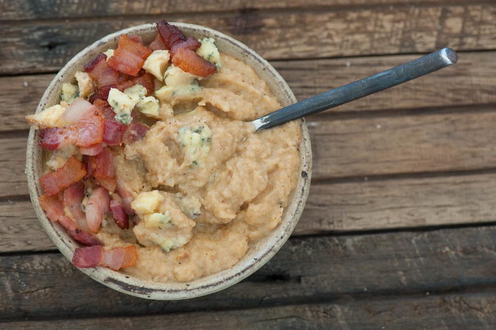 Roast Cauli Soup with Bacon & Blue Cheese-2