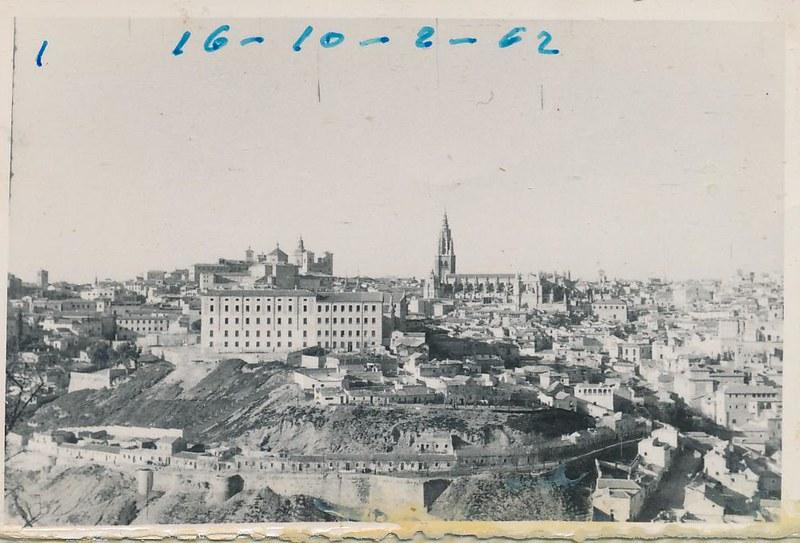 Vista general de Toledo el 16 de octubre de 1962. Fotografía de Julián C.T.