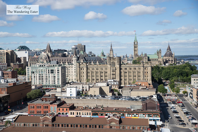 View of Parliament from the rooftop lounge