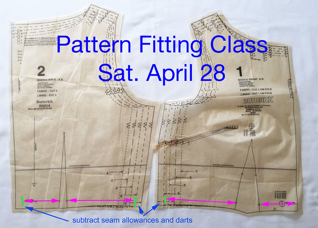 Pattern fitting class for blog