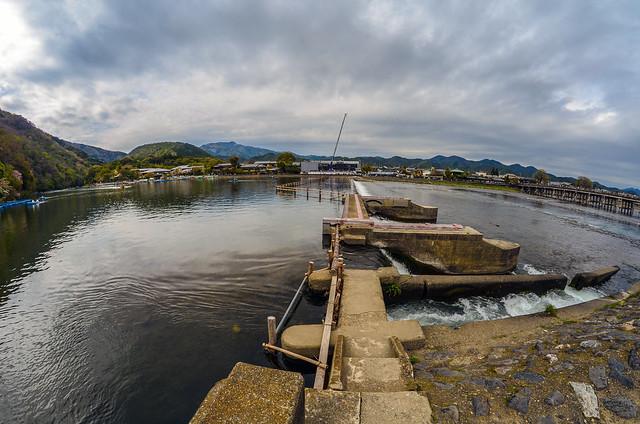 River dam Arashiyama