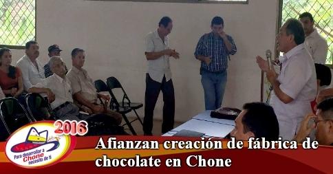Afianzan creación de fábrica de chocolate en Chone