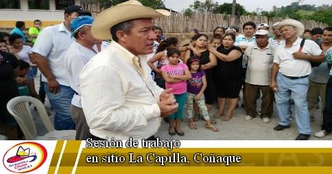 Sesión de trabajo en sitio La Capilla, Coñaque