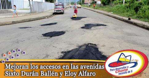 Mejoran los accesos en las avenidas Sixto Durán Ballén y Eloy Alfaro