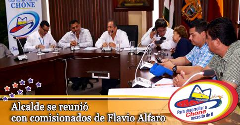 Alcalde se reunió con comisionados de Flavio Alfaro