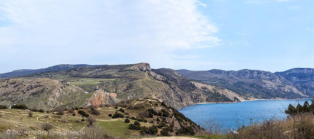 панорама со скалы Мытилино