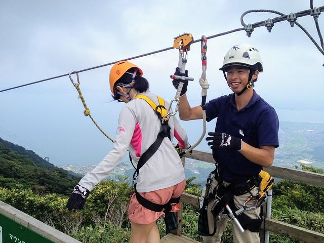 蓬莱山 琵琶湖バレイ ジップライン LINE7 MountainHawk(クマタカ)