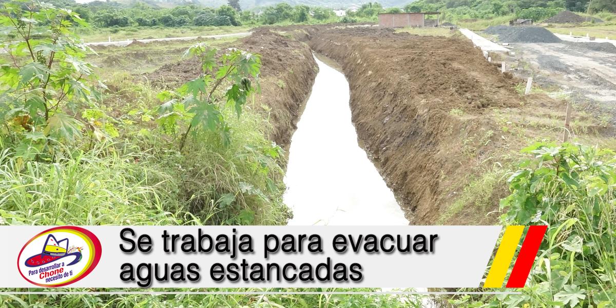 Se trabaja para evacuar aguas estancadas
