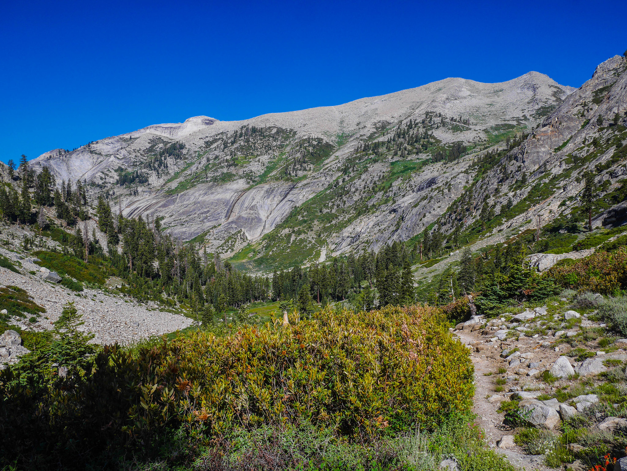 Descending to Elizabeth Pass junction