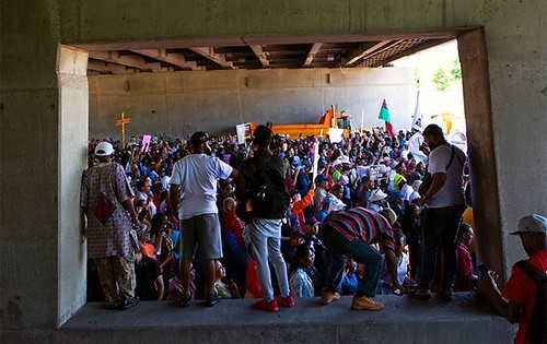 Under the Bridge #DanRyanProtest #DanRyanShutdown #Chicago #Protest #Photography #Journalism #AccidentalRenaissance #mfolchicago #NikonPhotography #photography #journalism #News