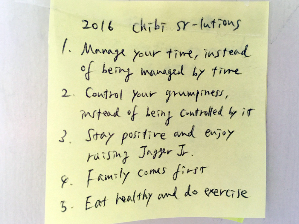 2016 New Year's Resolutions 2