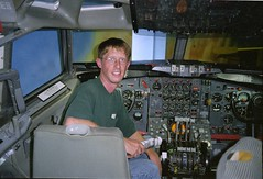 Yours Truly in a 707 Cockpit