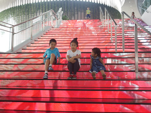 Steps at the concert hall at the Tianjin Cultural Center