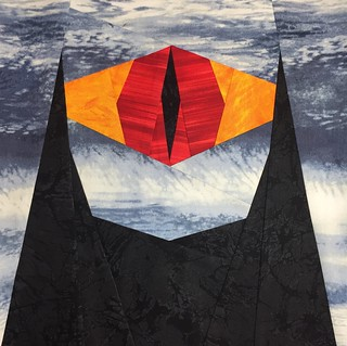 """Block 9- """"The Eye of Sauron"""" from the """"Not All Who Wander Are Lost"""" Quilt"""