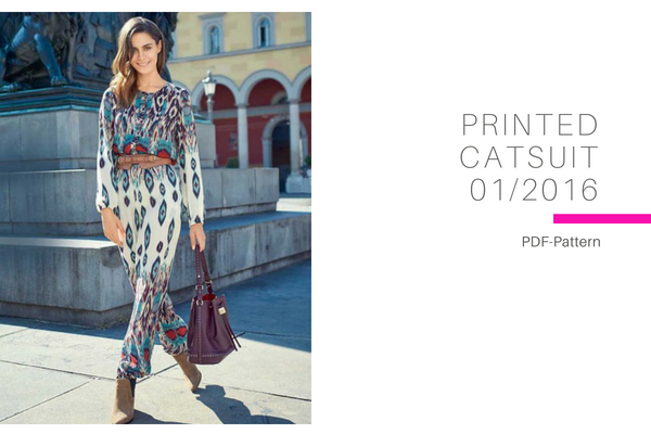 Printed Catsuit