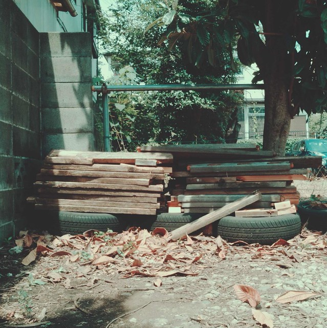 Cutted wooden boards