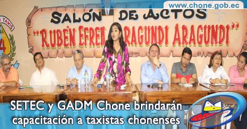 SETEC y GADM Chone brindarán capacitación a taxistas chonenses