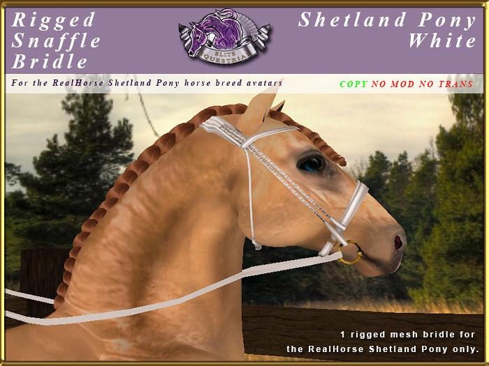 e-rh-Shetland-SnaffleBridle-White - TeleportHub.com Live!