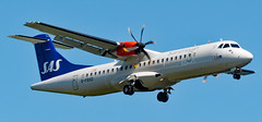 SAS plane on approach to Arlanda Sigtuna (Stockholm)