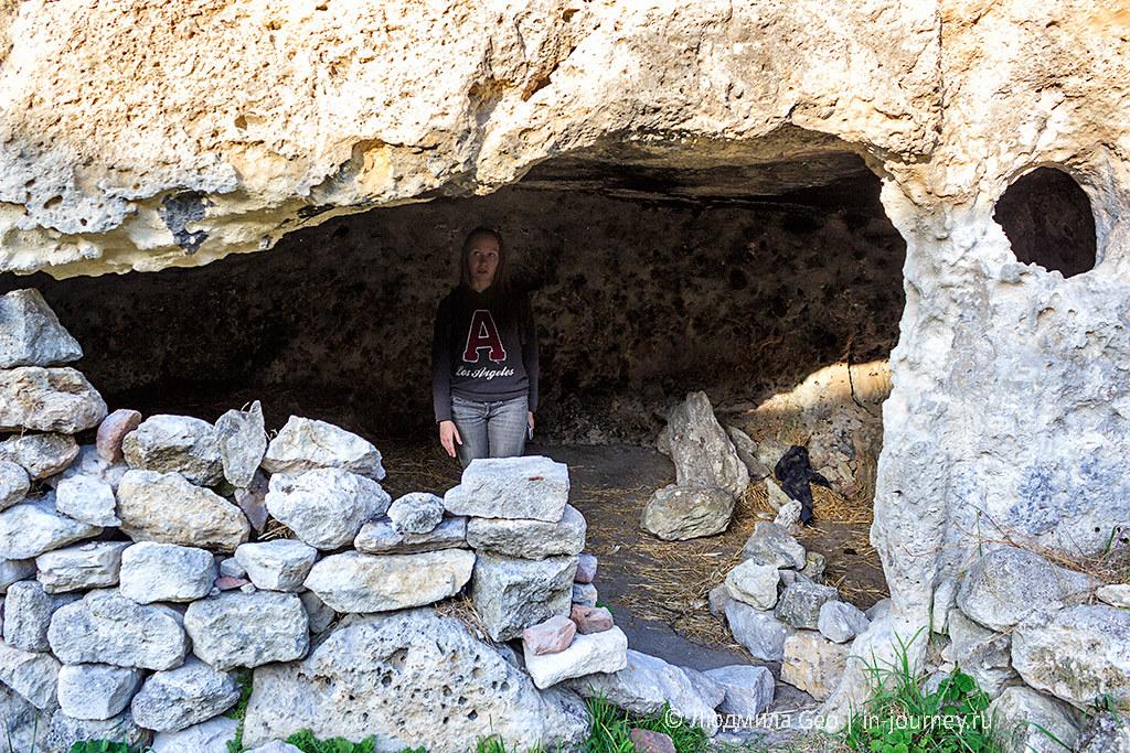 гроты крепости Каламита в Инкермане