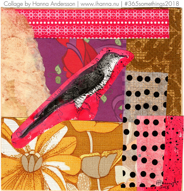 Hot Little Bird in Summer - Collage no 162 by iHanna