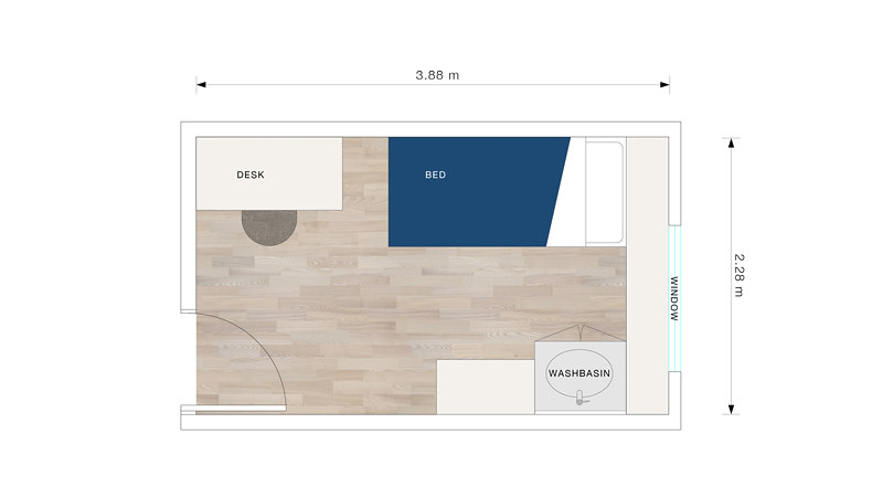 Wolfson bedroom floorplan