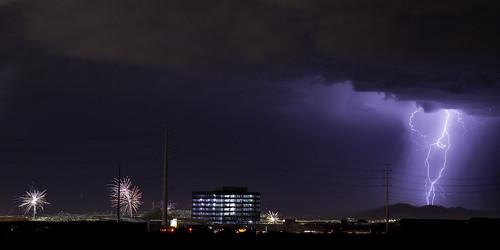 2014 4thofjuly july night redrockcasino canon5dmarkiii fireworks sky lightning summer storm