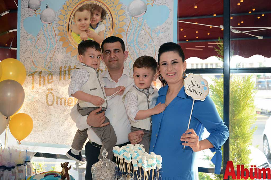 Hakan Hacıhamdioğlu ve sİbel Hacıhamdioğlu'nun ikizleri 3 yaşında