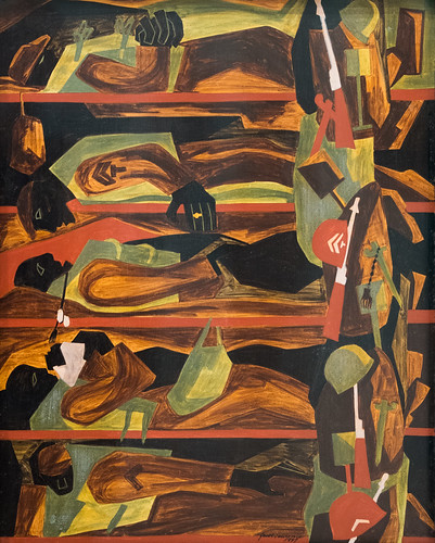 Jacob Lawrence, War Series: Shipping Out, 1947 1/15/18 #whitneymuseum