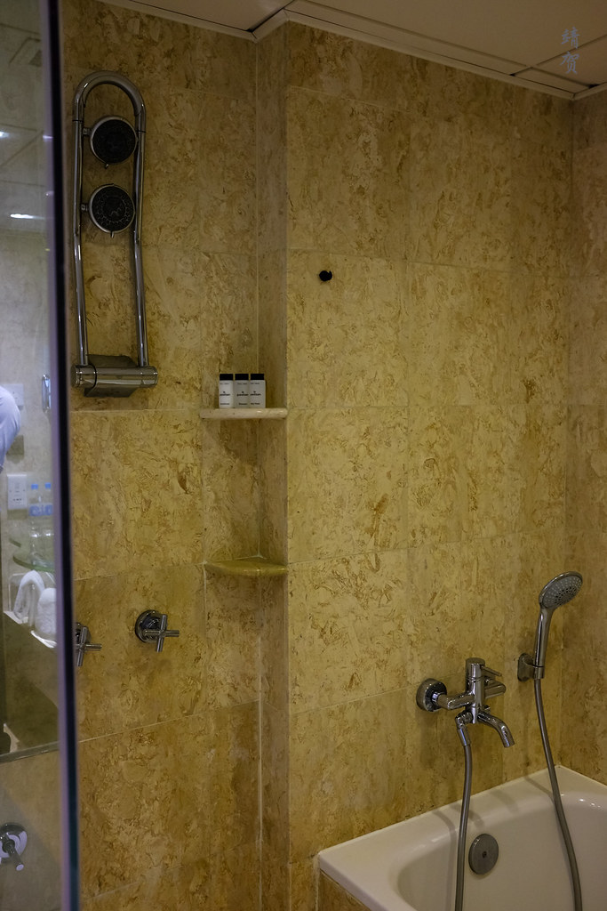 Bathtub and shower area