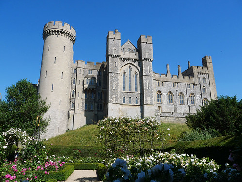 Arundel Castle from the Rose Garden