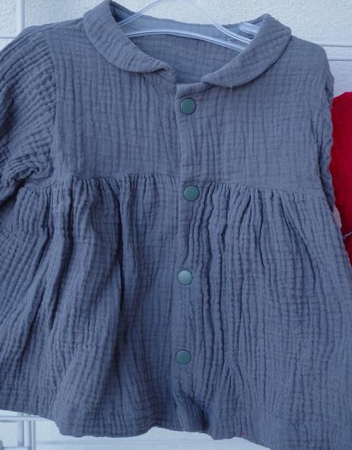 blouse stocholm col et manches longues