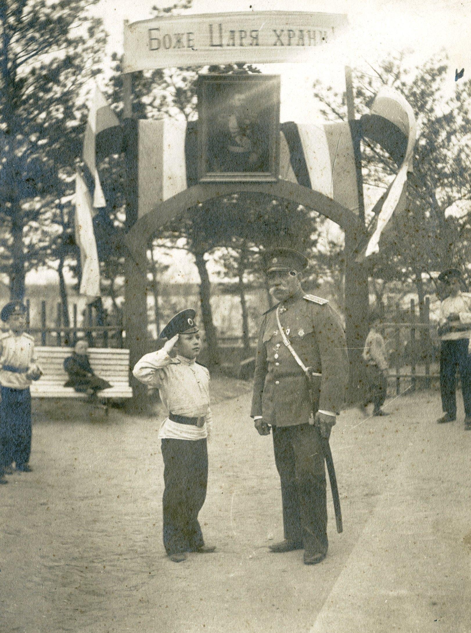 Отставной полковник Таранов и кадет Дружинин 3-й. Май 1913 года