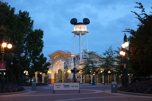 Walt Disney Studios Park at dusk