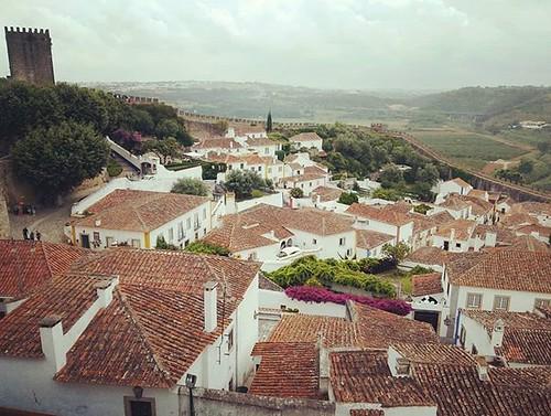 Vista de #Óbidos. #phonephoto #Portugal #santarem