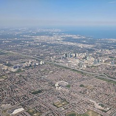 GTA: in the foreground is Mississauga. Its skyline bests Phoenix for the number of skyscrapers - yet there's no rail transit, and you've never heard of it.