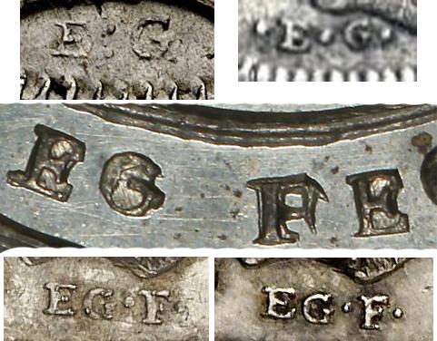 Elias Gervai coin initials