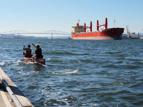 bridge canoe compositionallychallenged people river ship water