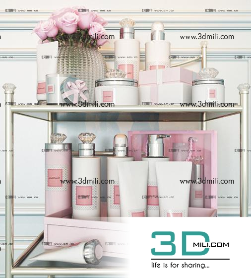 3dSkyHost: Bathroom accessories 3ds model Free Download